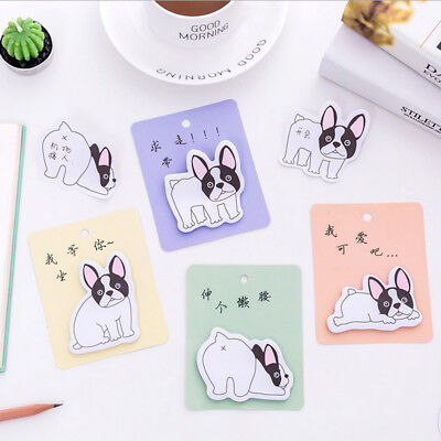 French Bulldog Sticky Notes - Cute Dog Note Pad - Post It Notes - 30 Sheets