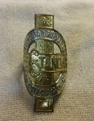 Antique Excelsior Motorcycle Bicycle Brass Name Badge, Schwinn