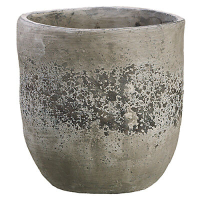 "9.5""Hx9.25""W Cement Round Planter -Stone (pack of 2)"