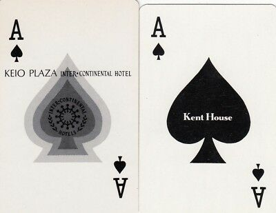 ACE of SPADES -- 2  single vintage swap playing cards