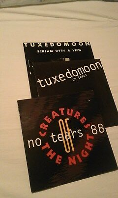 3x VINYL: Tuxedomoon, No Tears, Scream with a View, Creatures of the Night