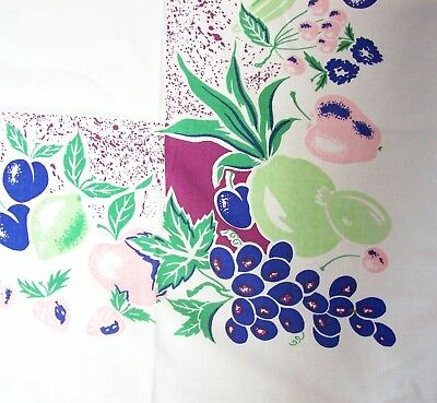 Vintage Printed Tablecloth - Colorful FRUIT