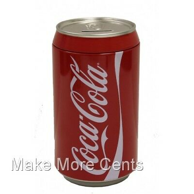 Coke Coca-Cola Soda Can Piggy Coin Bank - FREE SHIPPING