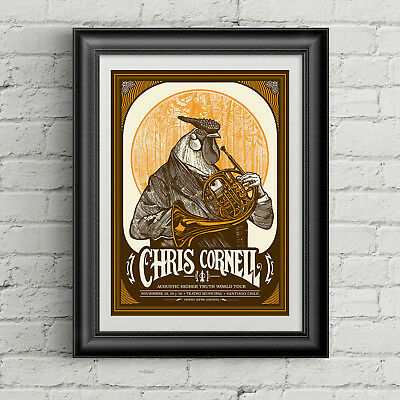 Chris Cornell concert poster Acoustic Higher Truth World Tour canvas print