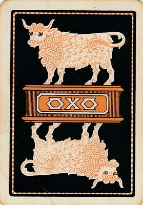 ADS.  OXO -  1 old wide single vintage swap playing cards !