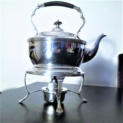 .Good Silver Plated Spirit Kettle on Stand Joseph Elliot & Sons, Sheffield c1920