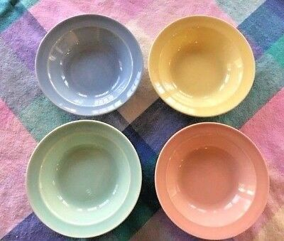 """Taylor Smith 4 Luray 5"""" Berry Fruit Bowl Pink Blue Green Yellow"""