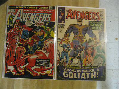 Guardians of the Galaxy collection - Avengers 112 F/VF and 28 VG/FN