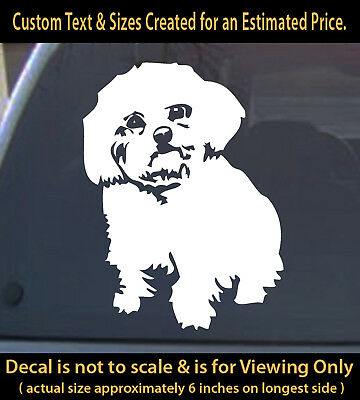 Maltese dog pet vinyl decal 6 inch sticker funny decal home car laptop