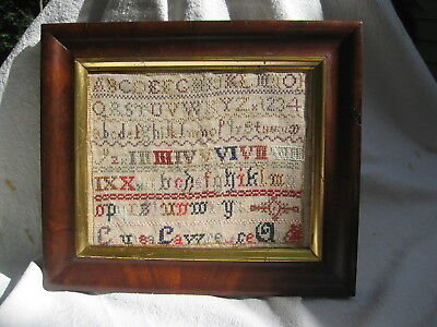 Antique Late-19th Century Sampler dated 1889