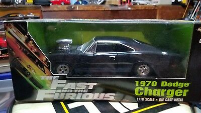 Ertl 1:18 Scale 1970 Dodge Charger The Fast And The Furious ! Mib!