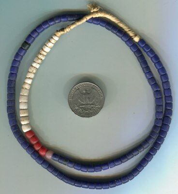 African Trade beads Vintage Venetian glass old cobalt blue glass beads