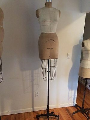 Vintage WOLF DRESS FORM Cage Collapsible MANNEQUINS  # 8 Full Rear