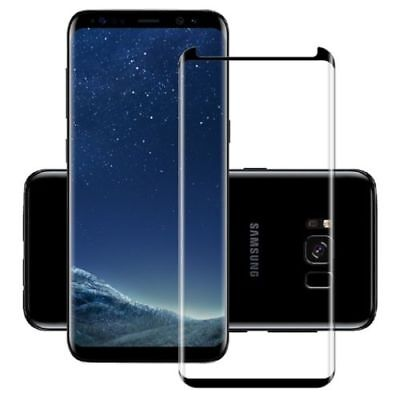 100% Genuine Tempered Glass LCD Screen Protector Samsung Galaxy S9 Plus  Black .