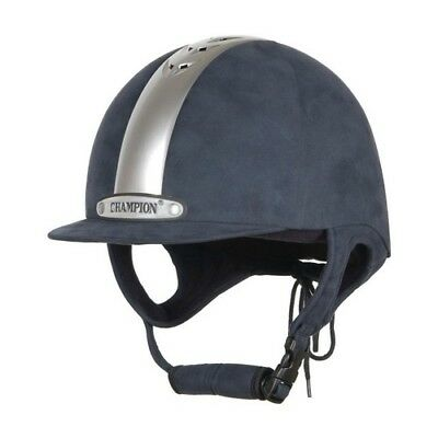 NEW CHAMPION VENTAIR NAVY/SILVER RIDING HAT PAS 015:2011 Various Sizes