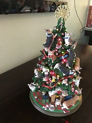 CORGI CHRISTMAS TREE BY DANBURY MINT! Retired RARE DOG TREE UNIQUE MUST SEE!