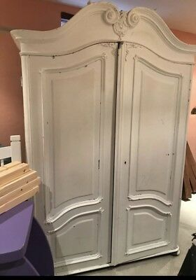 Shabby Chic Large Antique Wardrobe