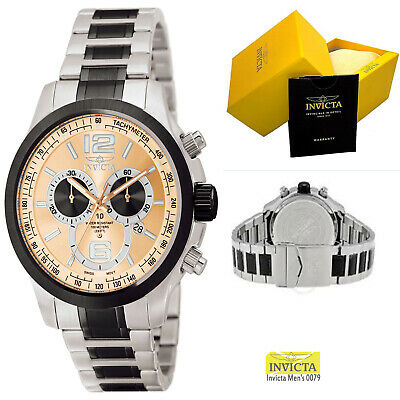 Invicta Men's 0079 Specialty Quartz Chronograph Brown Dial Watch Rose Gold 100m