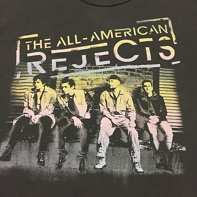 The All-American Rejects XL Gray T-shirt Tour 2012 Rock Band Dirty Little Secret