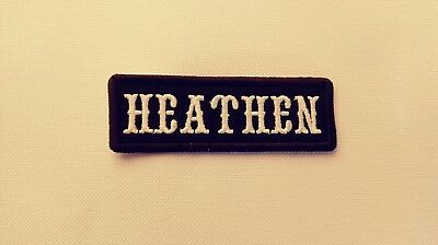 Heathen Name Tape, Odin, Thor, Viking. Black & White, Black Border