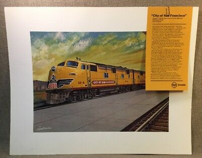 Vintage City Of San Fransisco Southern Pacific Union Pacific Railroad Art Print