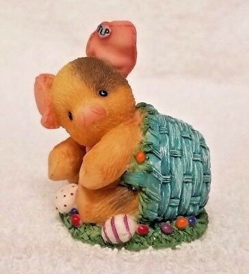 Enesco This Little Piggy Collectible Figurine Statue 1996 Spillin The Beans