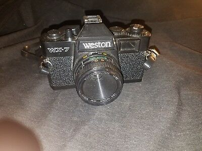 Vintage Weston WX-7 35MM Film Camera w/ F 50MM Optical Lens UNTESTED