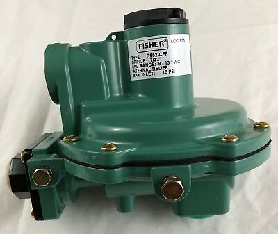 Fisher R652-CFF Second Stage Back Mount Regulator Gas LP see label picture specs