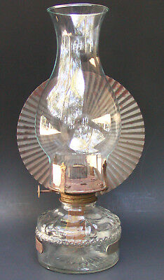Vintage Eagle Oil Kerosene Lamp with Eagle Wall Mount Tin Mirror Metal Reflector