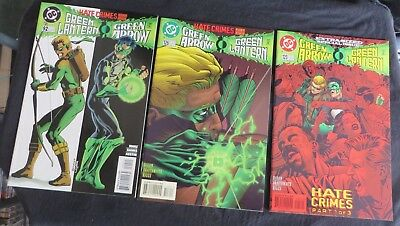 GREEN ARROW/GREEN LANTERN #125,126 and 92 Hate Crimes Complete! HIGH GRADE!