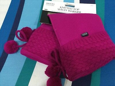Briers Ladies Welly Warmers Stunning Quality Tie And Fluffy Balls  Gift Ideas