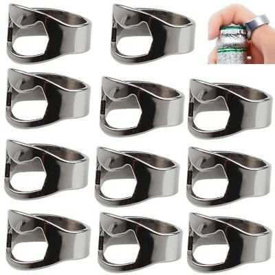 Lot of 20PCS Stainless Steel Finger Ring Bottle Opener Thumb Beer Bar Tool Party