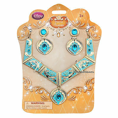 2015 Disney Store Princess Pocahontas Girl Costume Jewelry Necklace Earrings Set