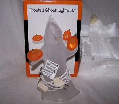 Vintage    HALLOWEEN   GHOST LIGHT    frosted very nice