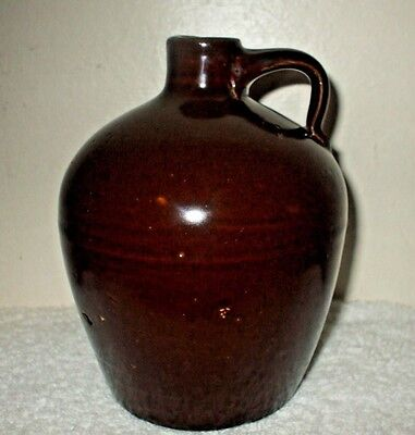 Antique Stoneware Little Brown Jug Molasses - Whiskey