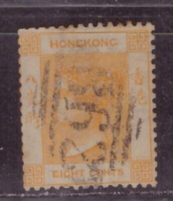 1863 British colony in China stamps, Hong Kong QV 8c used, CCC