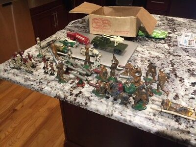 Vintage Lot 40 Military Metal Toy Army Soldier, Sailor, Figurines