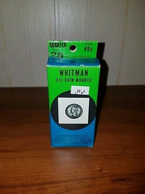 NEW VINTAGE Whitman Quarter 2x2 Coin Mounts Cardboard