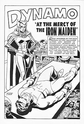 Dan Adkins's Recreation of the Splash Page of Wally Wood's 1st Iron Maiden Story