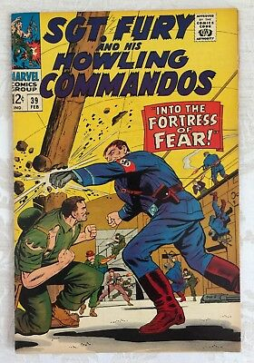 Marvel Comics # 39  Sergeant SGT. FURY Howling Commandos NAZI Fortress of Fear