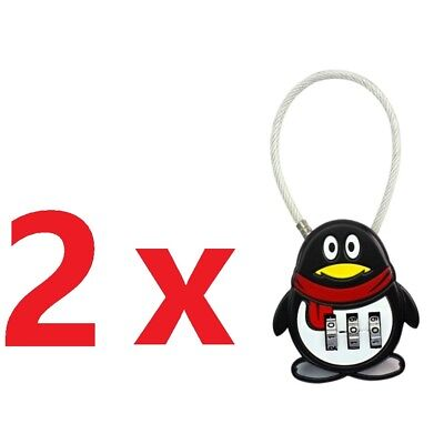 2x New Security 3 Combination Travel Suitcase Luggage Bag Code Lock Padlock