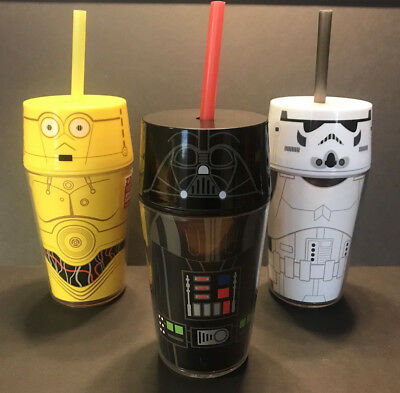 NEW Star Wars ZAK! Insulated Tumblers set of 3 Darth Vader Storm Trooper C3PO