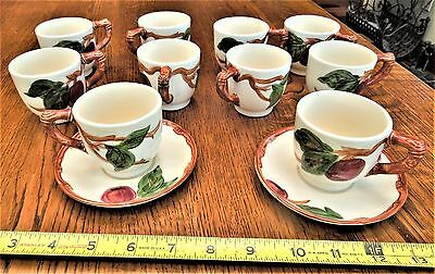 Franciscan Apple  Demitasse  Cups  & Saucers - 1950's