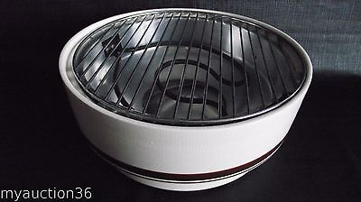Vintage Contempra Stoneware Indoor Smokeless Electric BBQ Grill ECB-25