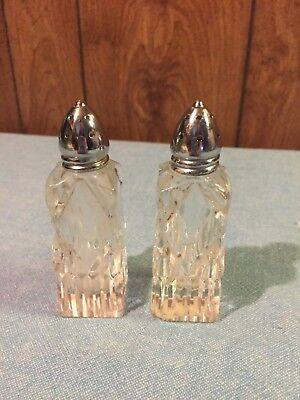 Vintage Superior Quality Hand Cut Glass Salt & Pepper Shakers Made in Japan