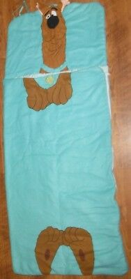 "Scooby Doo Sleeping Bag Childs Kids 58"" x 25""  Blanket Hanna Barbera Free Ship"