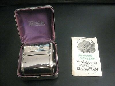 Vtg 1920 Twinplex Safety Razor Blade Sharpener Stropper Shaver, Looks Unused!