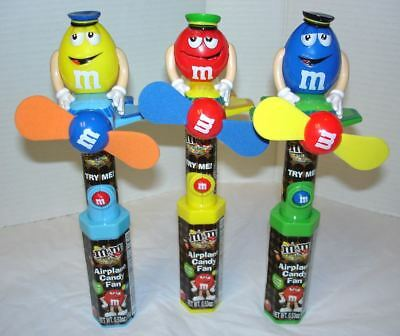 Set of 3 M&M's Airplane Candy Fans