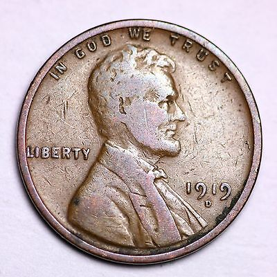 1919-D Lincoln Wheat Cent Penny LOWEST PRICES ON THE BAY!  FREE SHIPPING!
