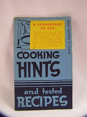 Antique Procter & Gamble Promo Cookbook Cooking Hints Tested Recipes 1937